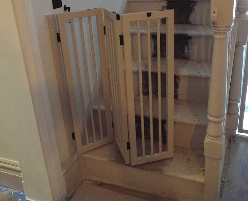 Folding Stairgate In 2020 Diy Dog Gate Stair Gate Baby