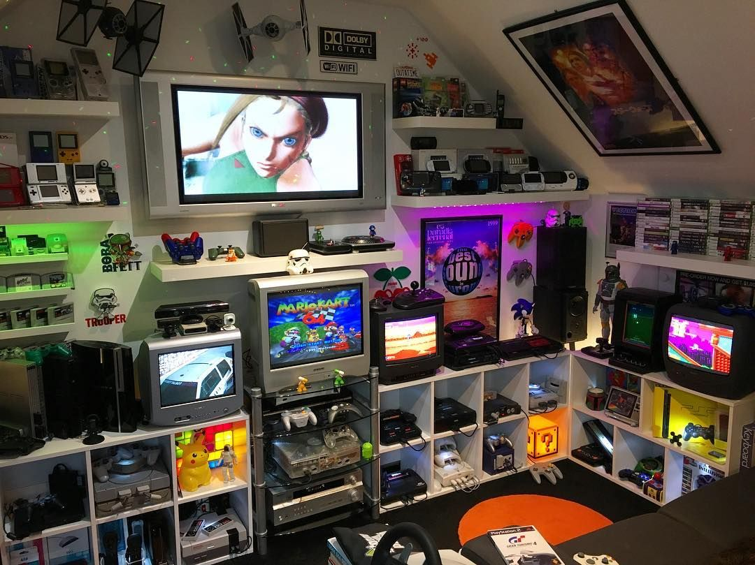 So Awesome Video Game Rooms Video Game Room Gaming Room Setup