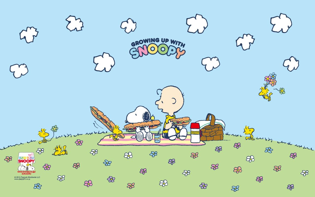 Growing up with Snoopy Snoopy wallpaper, Peanuts