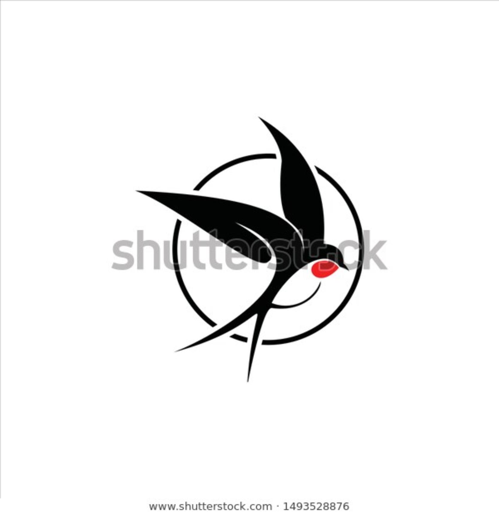 modern swallow bird logo bird logo design bird logos handmade logo pinterest