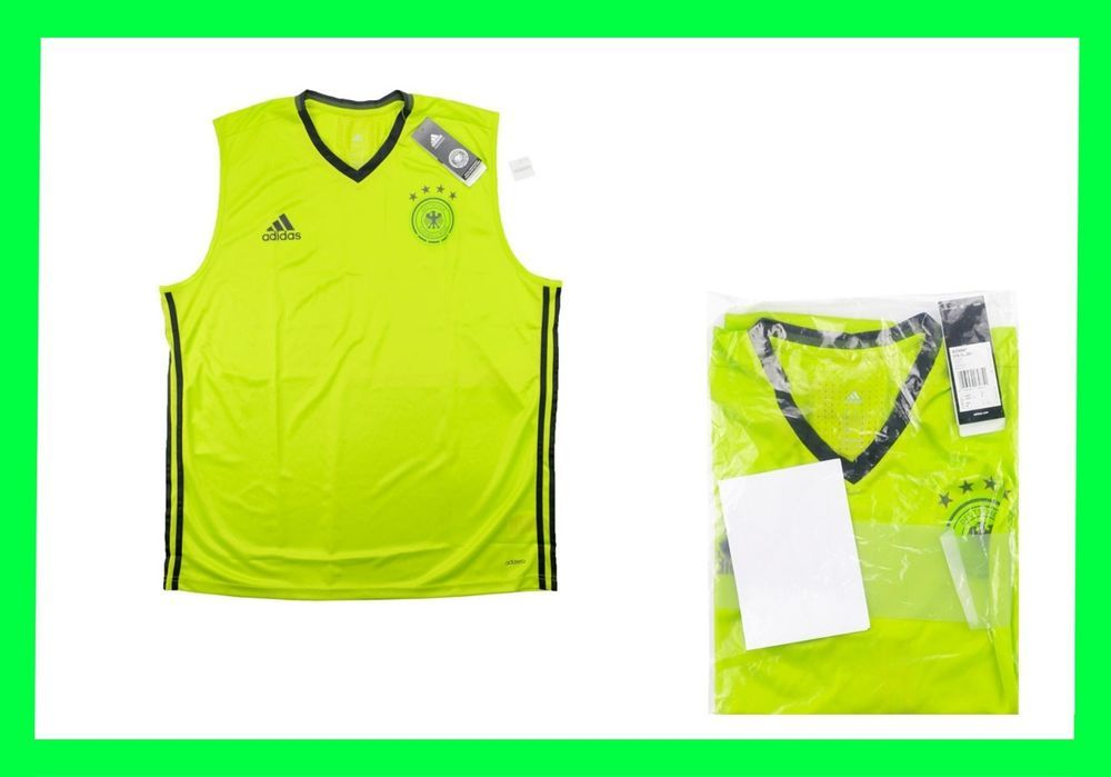 New Rare Fussball Germany Adizero Training Soccer Vest Football World Cup S M L Adidas Germany