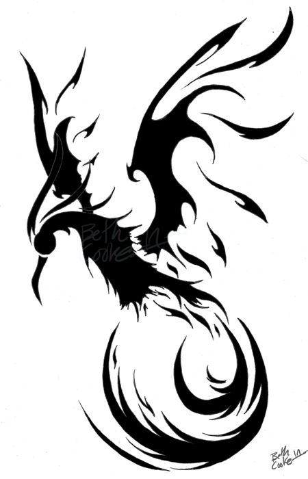 I 039 Ve Been Wanting To Do A Cool Phoenix Design For A While And I Really Like How This One Turned Out I Phoenix Tattoo Phoenix Tattoo Design Tribal Tattoos