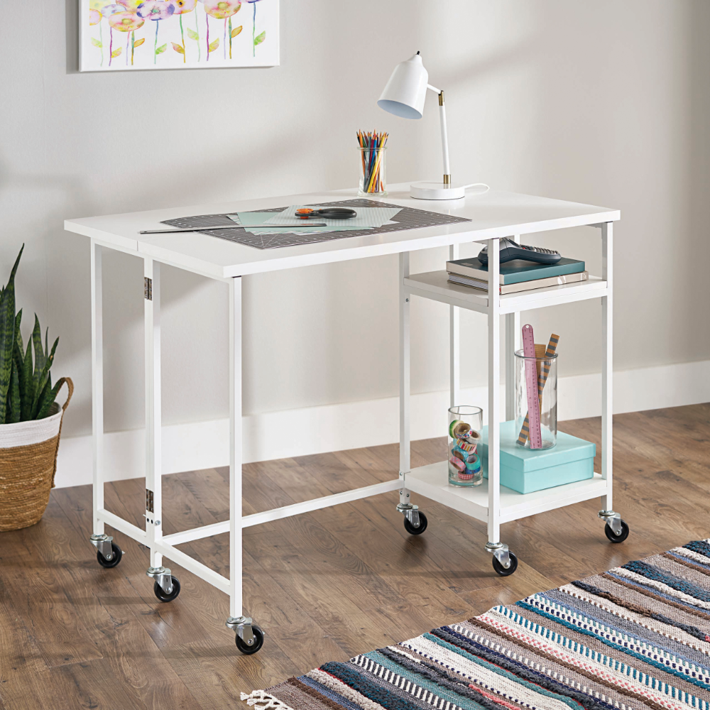Arts Crafts Sewing Craft Tables With Storage Craft Table