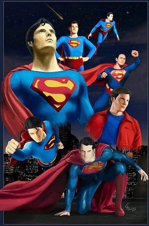 The Actors Below Kirk Alyn George Reeves Christopher Reeve Dean Cain Tom Welling Brandon Routh Henry Cavill All Stars Superman