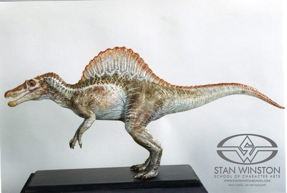 The final 1/16th scale Spinosaur maquette for JURASSIC PARK III ...