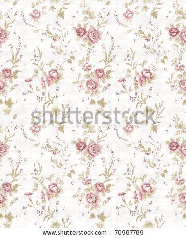 Rose bouquet design Seamless pattern with White  background by tang, via ShutterStock