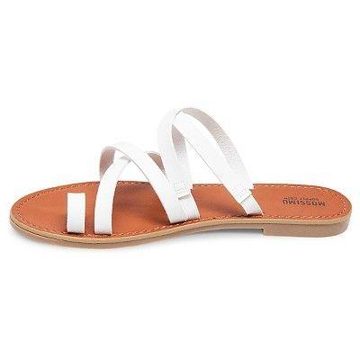 9baabda79ce2ea Women s Lina Slide Sandals Mossimo Supply Co. - White 5.5