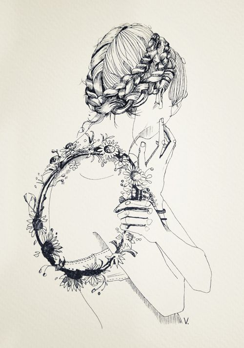 Fashion illustration in black and white. Unsure of artist?
