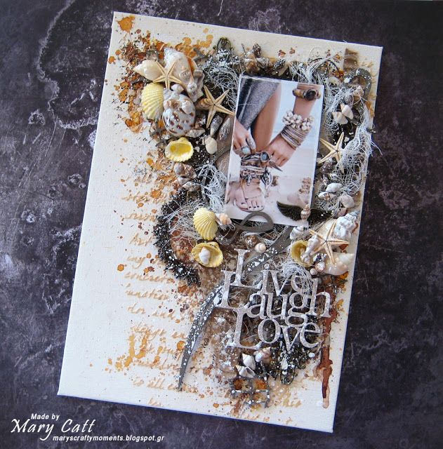 Mary's Crafty Moments: ''Live Laugh Love'' - A DT Canvas for 2Crafty Chip...