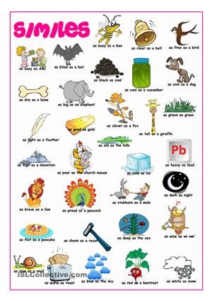 Similes Picture Dictionary Worksheet Free Esl Printable Worksheets Made By Teachers Similes And Metaphors Picture Dictionary Simile