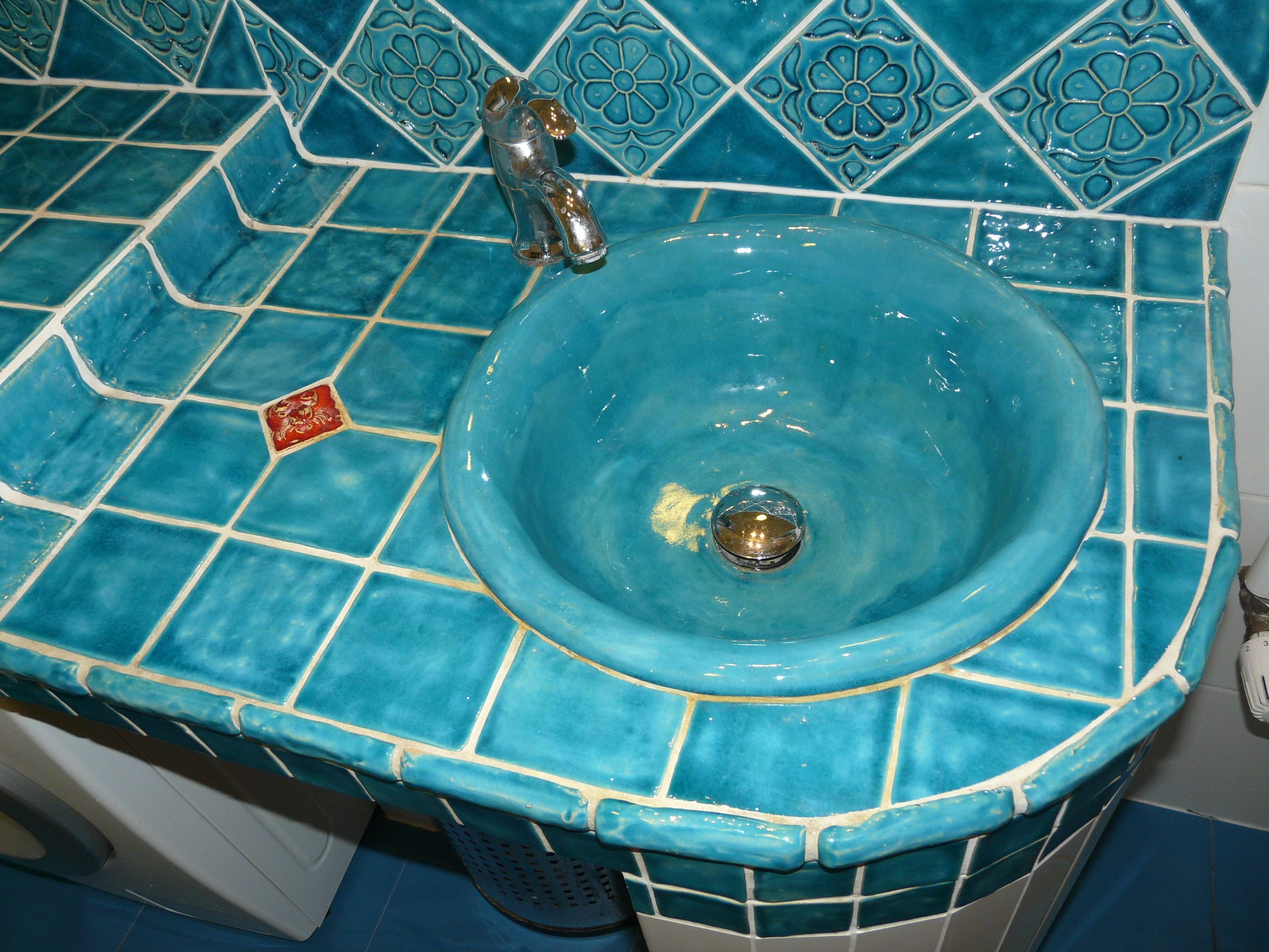 Handmade tiles handmade sink ceramic projects realizacje handmade tiles handmade sink ceramic dailygadgetfo Gallery