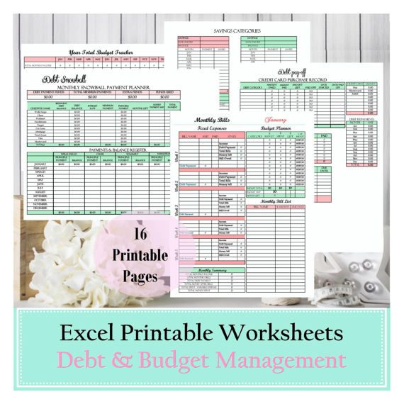 Finance, Budget planner, financial planner, debt snowball, excel