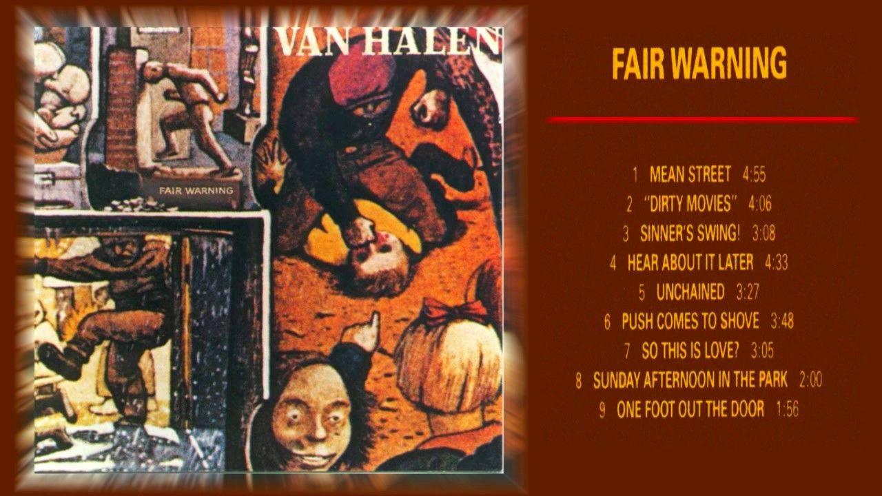 Van Halen Fair Warning 1981 Van Halen Fair Warning Van Halen This Is Love