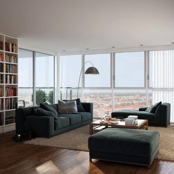 Visualizations modern apartments inspiring industrial lighting classic colors interior design idea window