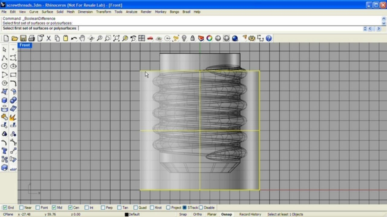 Learn how to model screw threads using helical curves and