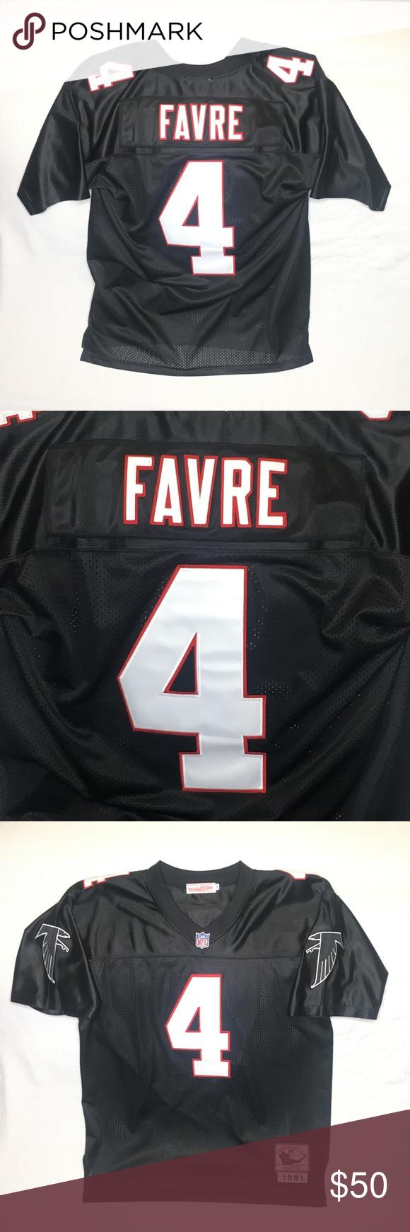 54dcd66e261 Brett Favre Atlanta Falcons Football Jersey Sz 50 Mitchell Ness Brett Favre  Atlanta Falcons Throwback Football