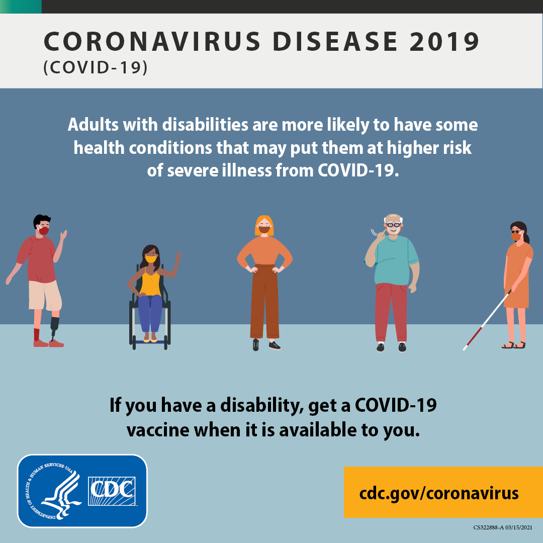 Some People With Disabilities Might Be At Higher Risk For Getting Very Sick From Covid19 Protect Yourself And Others From Covid 19 Wearamask Stay At Le