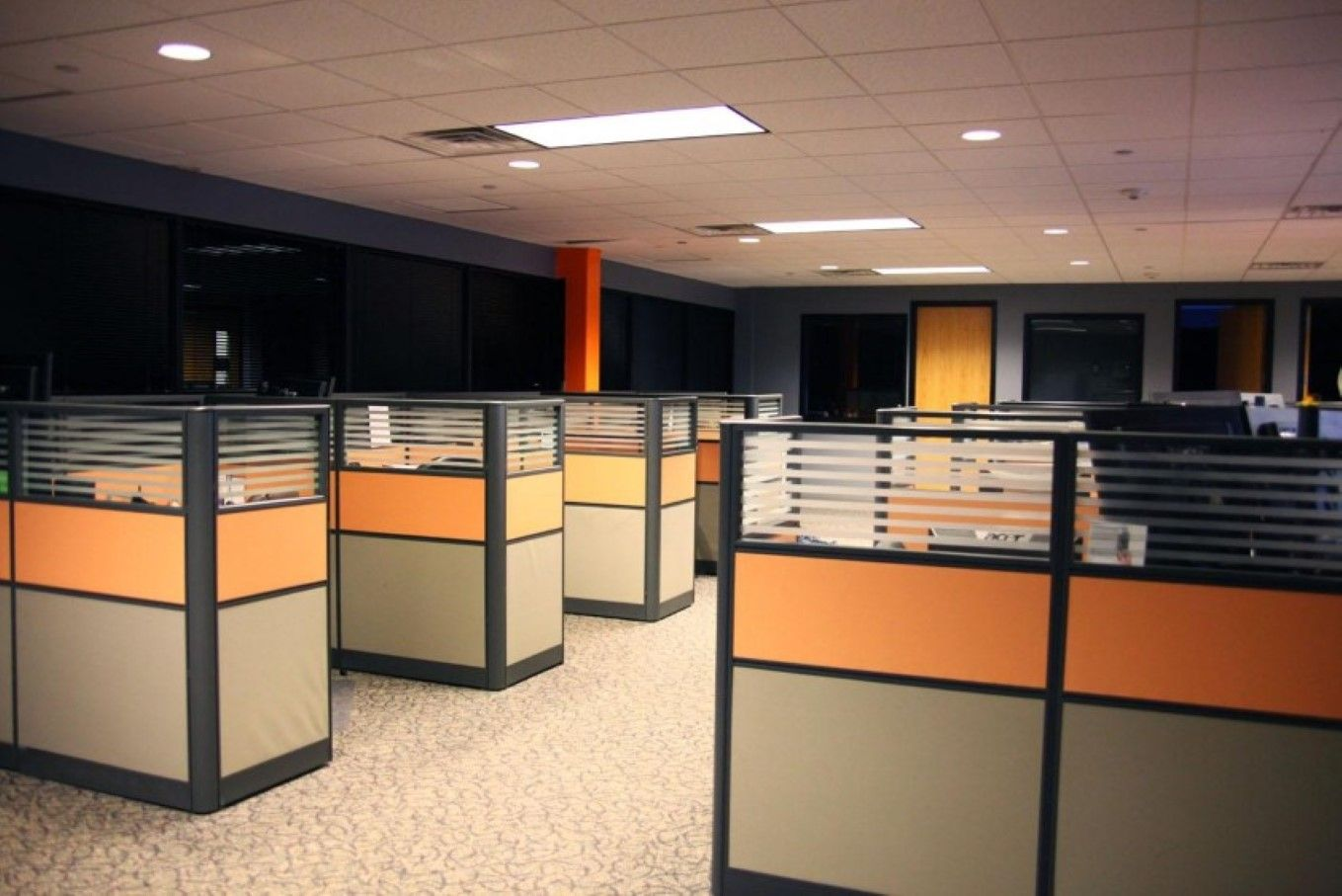 Cubicles Orange Cubicle Design Cubicle Walls Office Floor Plan