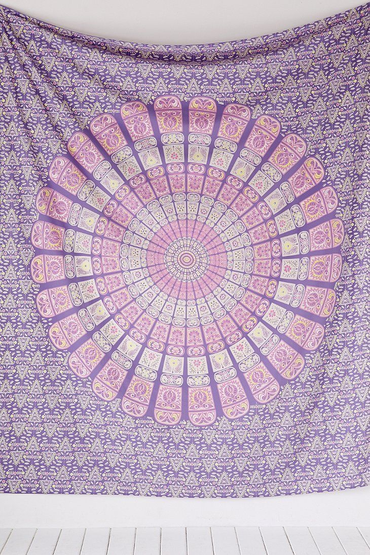 pattern bluish cotton medallion tapestry wholesale yoga mat