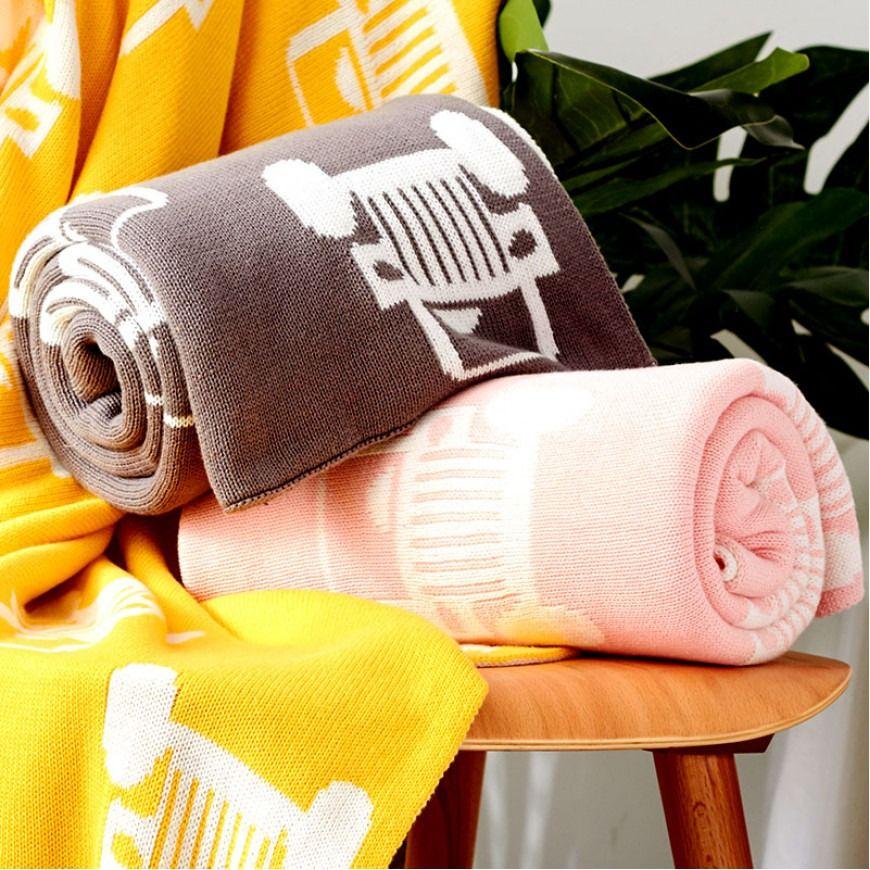 بطانية شال صوف لون زهري Blankets Throws Blanket Towel