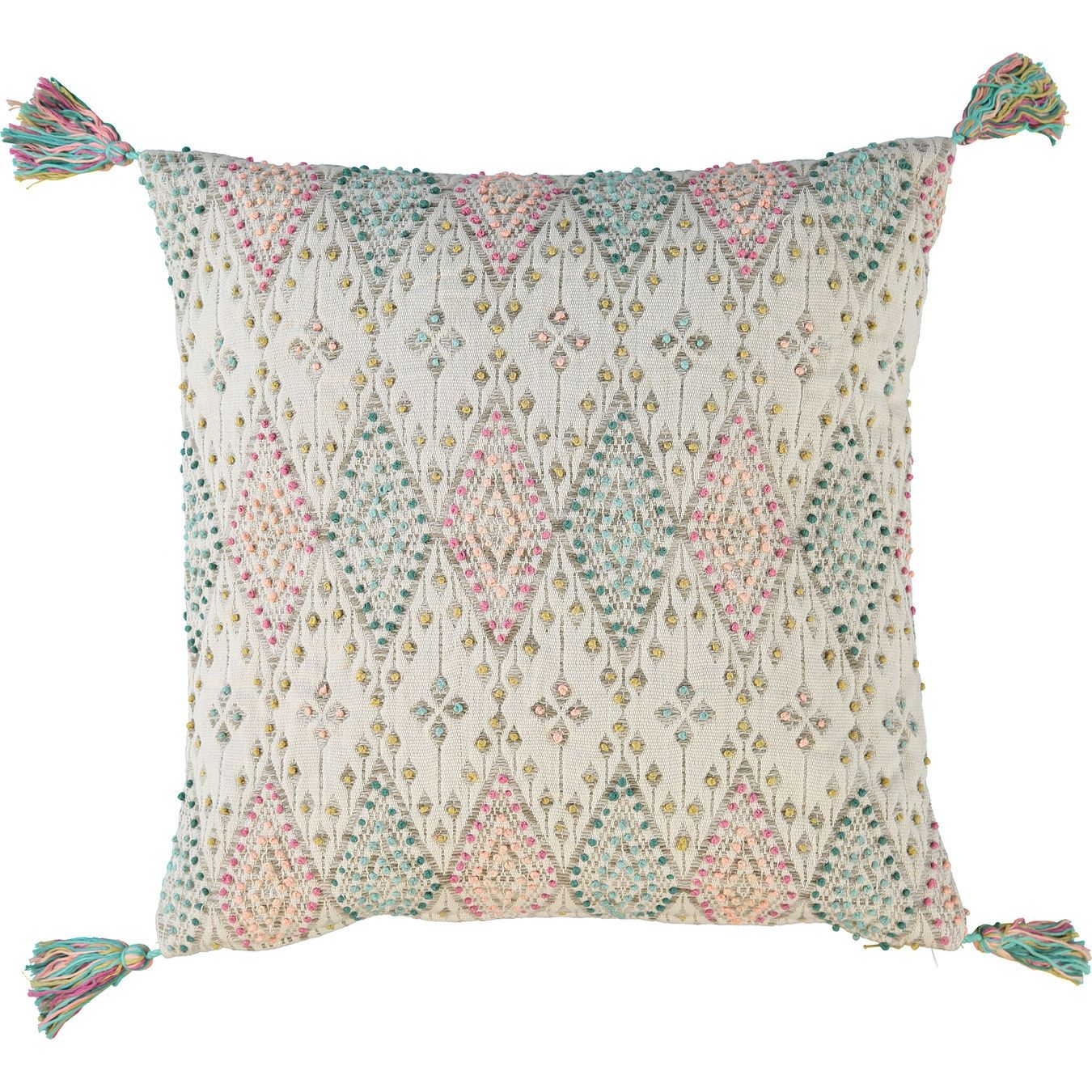 Multicoloured knot cushion xcm living room home tk maxx