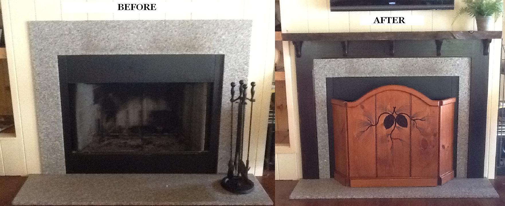 Custom Mantel To Soften A Granite Fireplace Surround Granite