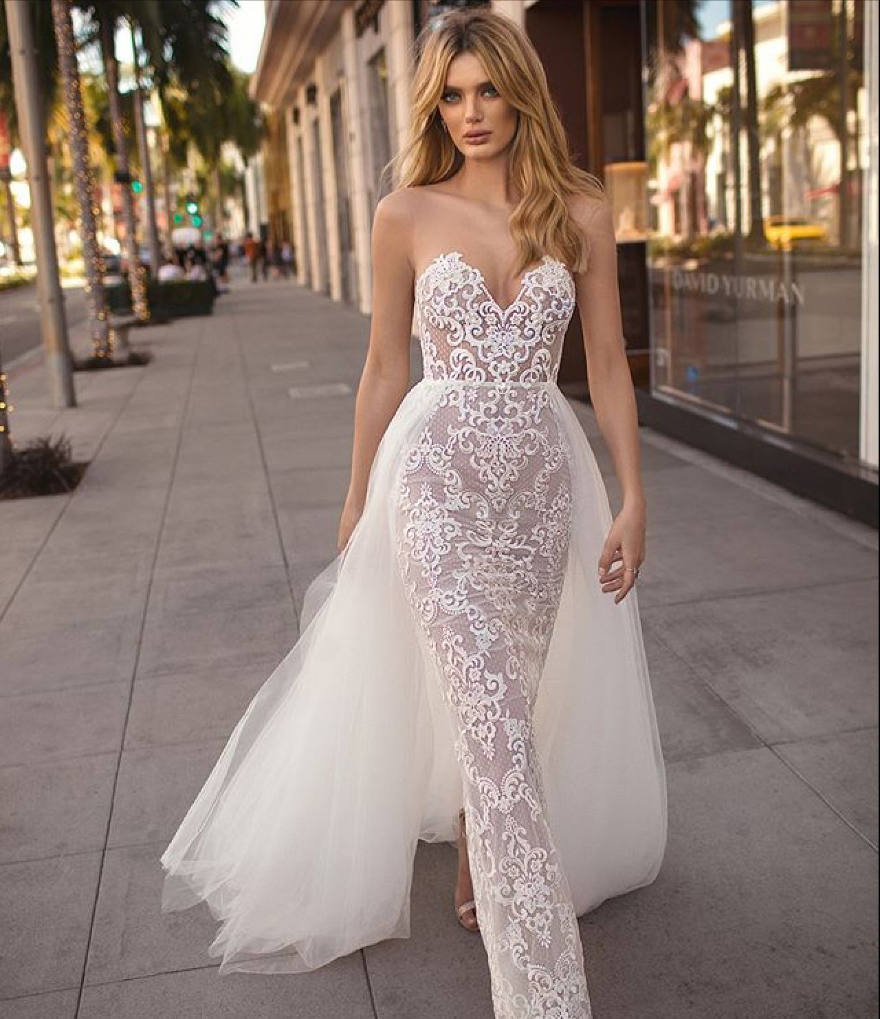 e049a83f51aa3 Camila by Muse by Berta | Bustle Gowns in 2019 | Strapless lace ...