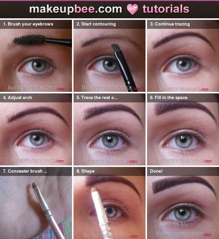 Step By Step Tutorial For Eyebrow Tutorial Face Forward Eyes