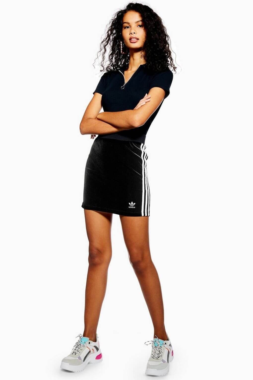 1a2ce0c4fd Adidas originals adicolour mini body conscious skirt with 3 stripe ...