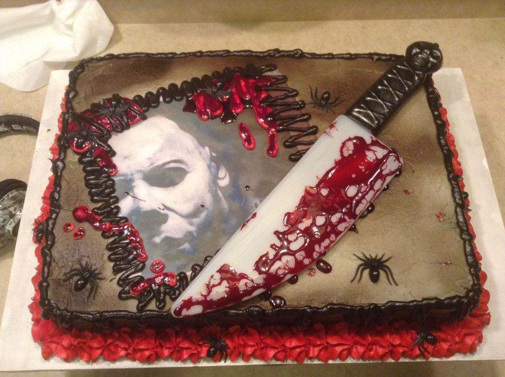 Michael Myers Halloween Birthday cake I made. My Cakes ...