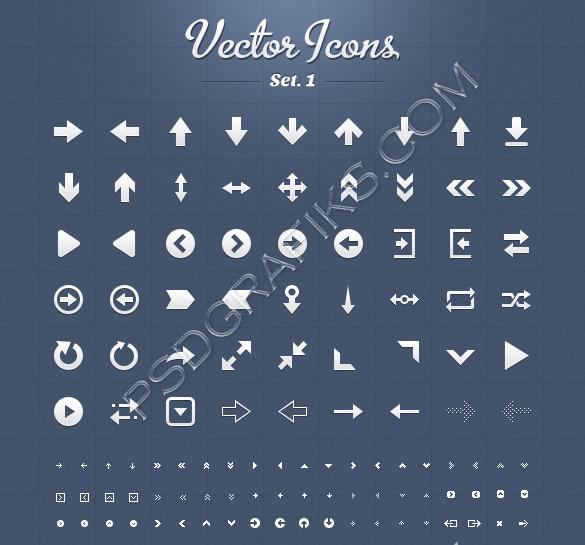 Vector Assorted Arrow Icon Set 1 Vector, Icon set, Arrow