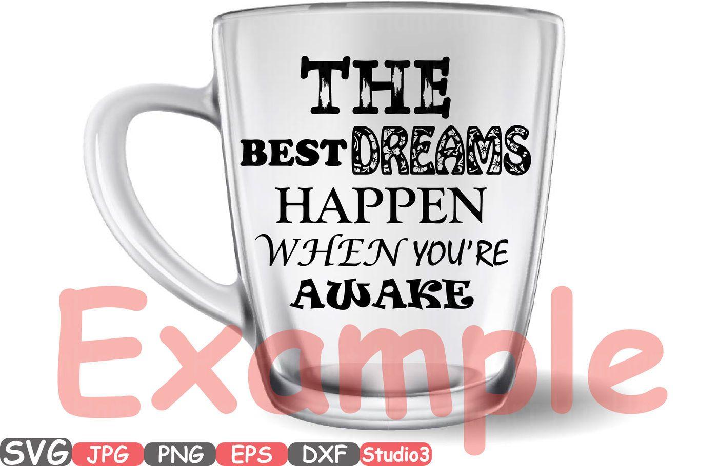 Dream Catcher The Best Dreams Happen When You Re Awake Quote Sayings Silhouette Studio 3 Cameo Svg Word Art Clipa Brochure Design Template Awake Quote Word Art