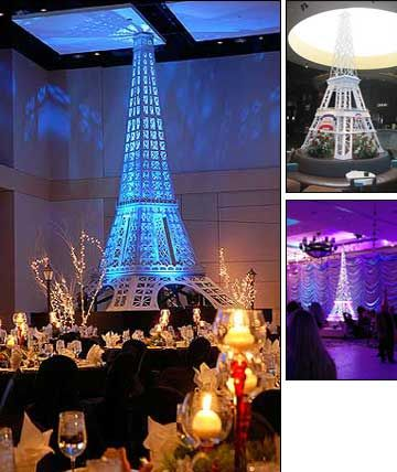 Paris, Eiffel Tower Party Rentals, Moulin Rouge Theme Party Decor
