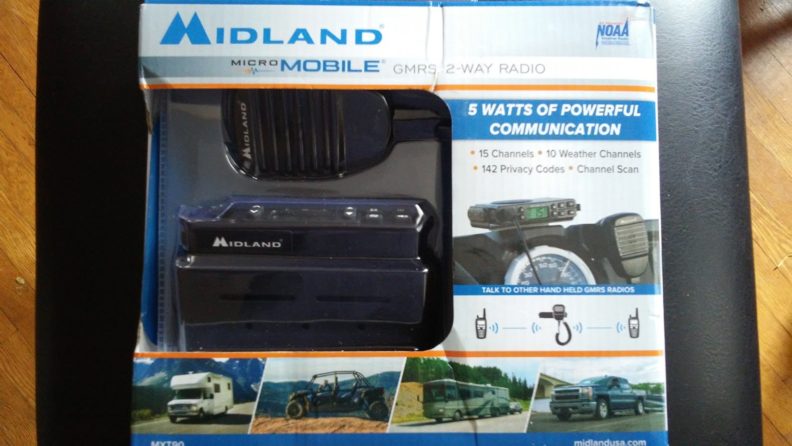 Midland micro mobile gmrs 2way radio mxt90 with images