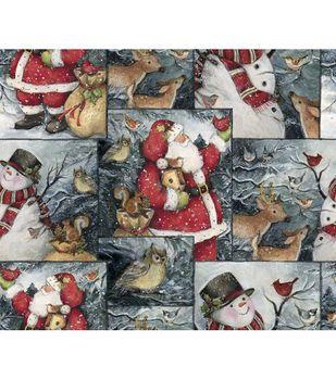 Holiday Inspirations Christmas Susan Winget Winter Woodland Scene Fabric