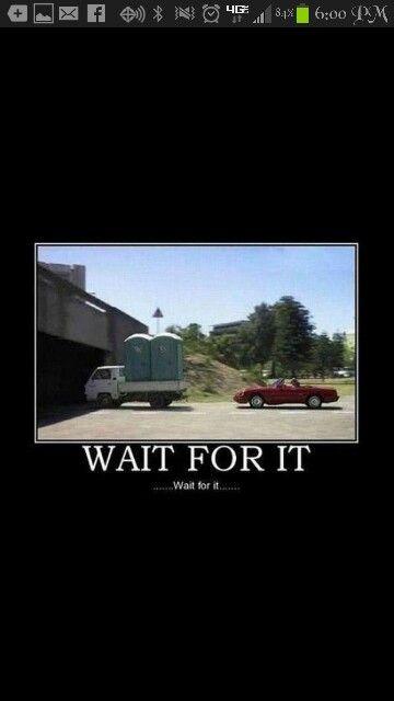 The joys of a convertible...