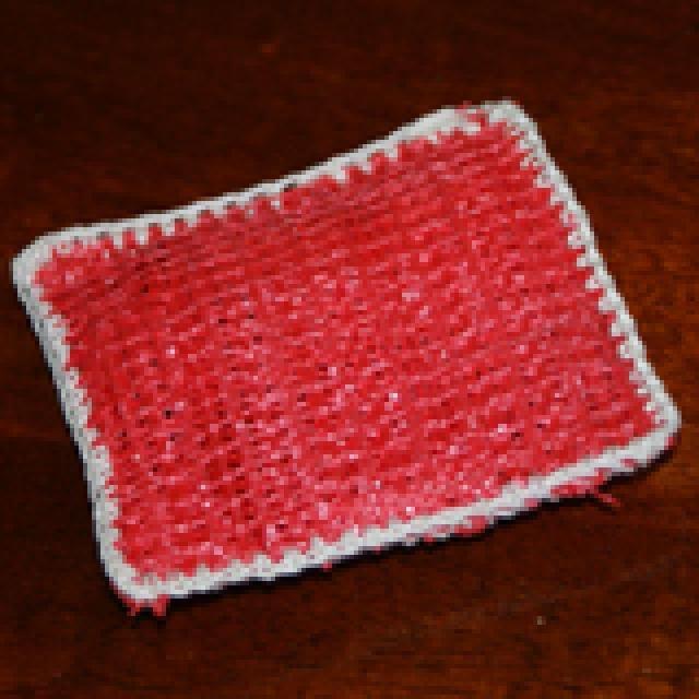 Free Crochet Pattern for a Plarn Dish Scrubbie | Crochet, Tutorials ...