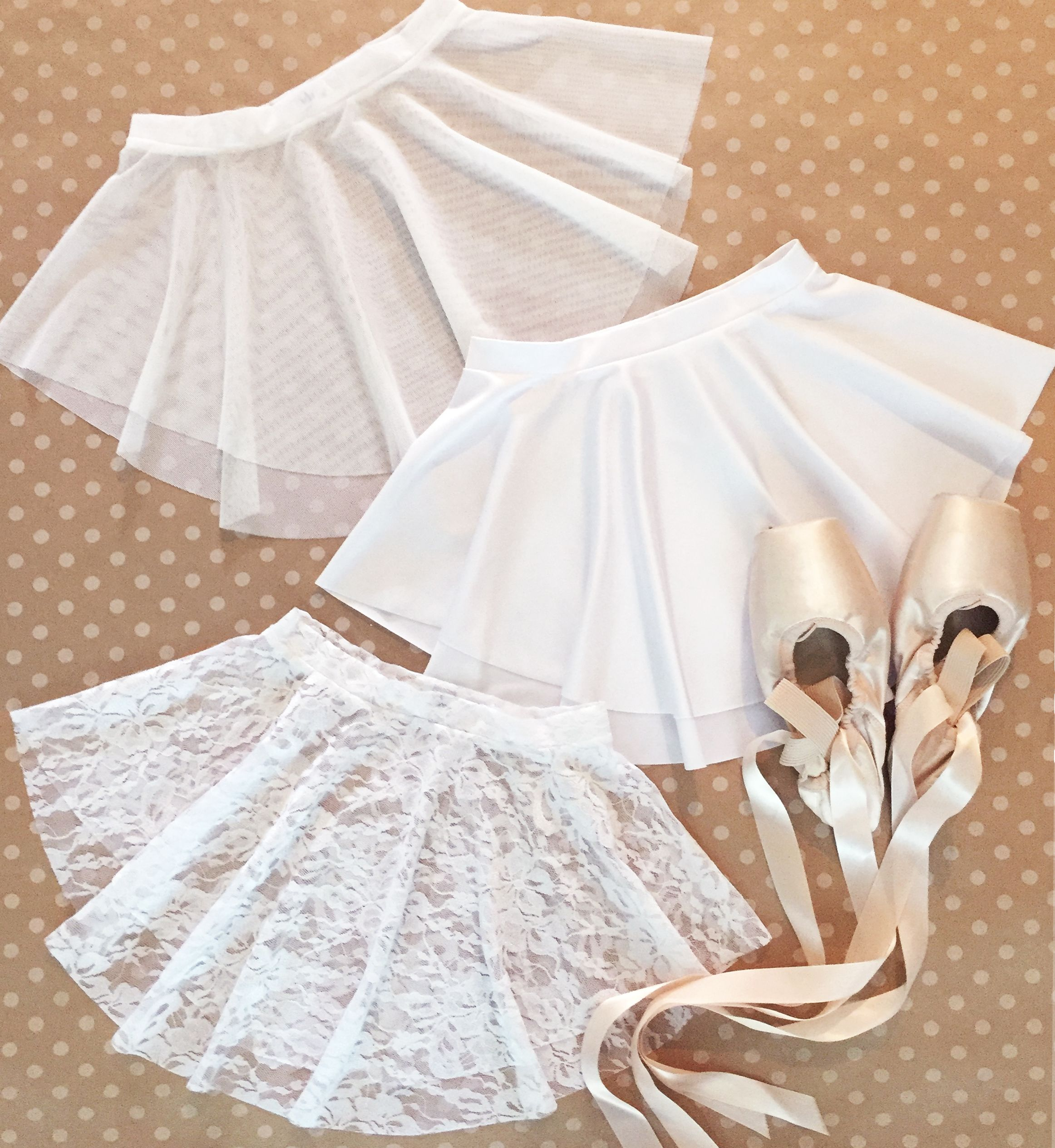 Royall Dancewear WHITE skirt collection- perfect for your