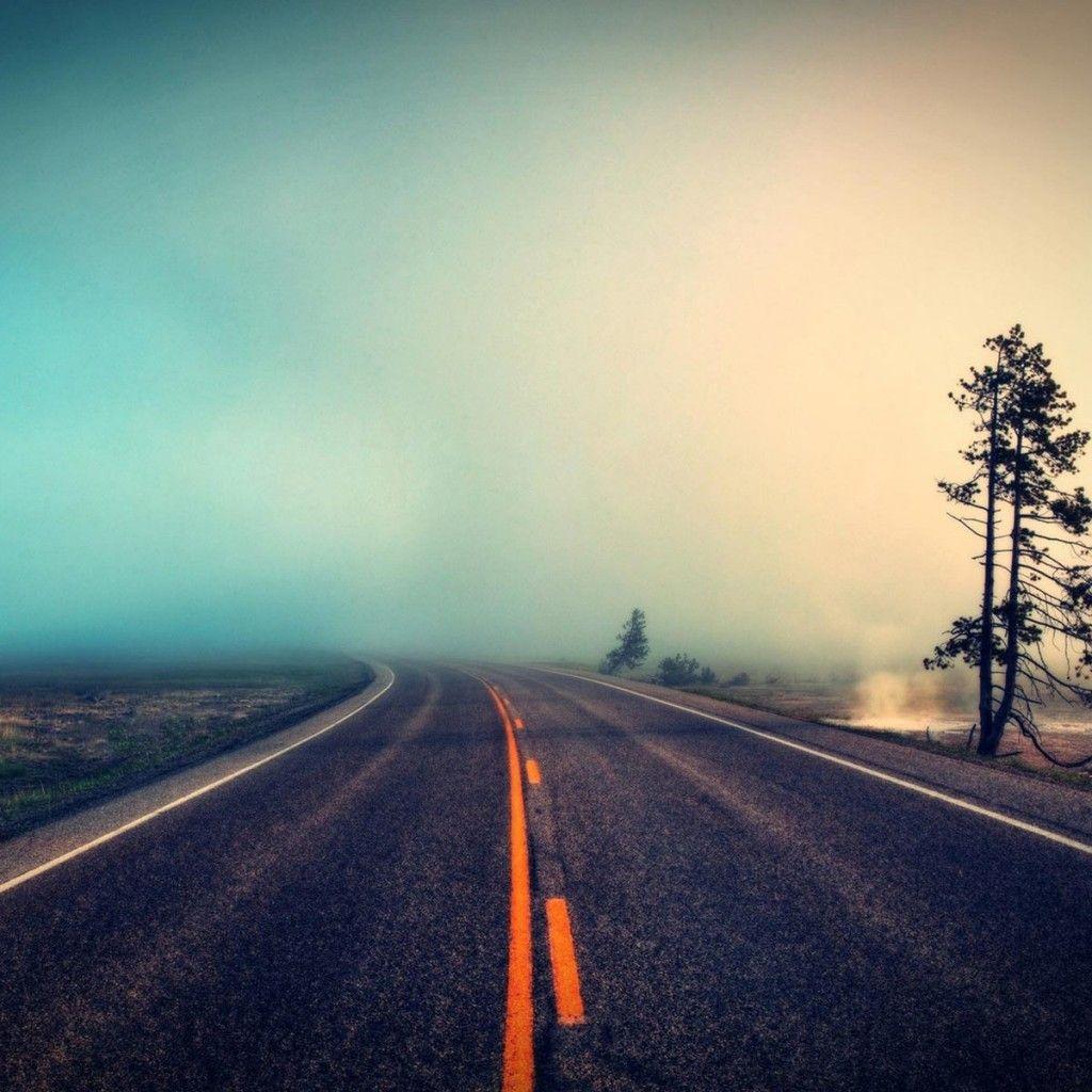 Foggy Road - Perfect For IOS7 #iPad #wallpaper