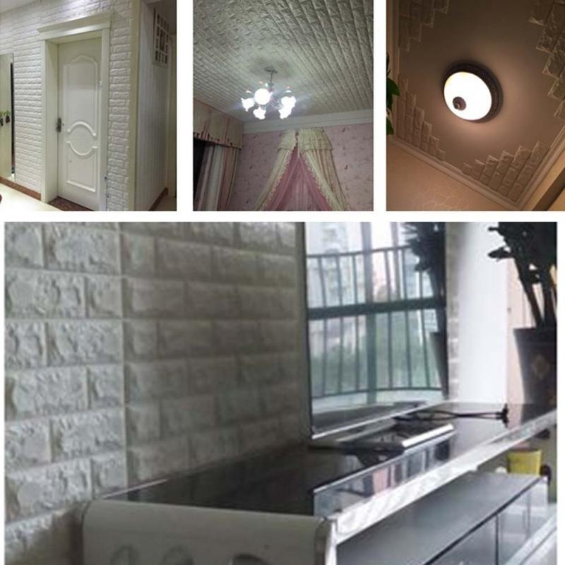 brick stone wall sticker diy wall decal waterproof pe foam tile wallpaper bedroom kids room home decoration mayitr