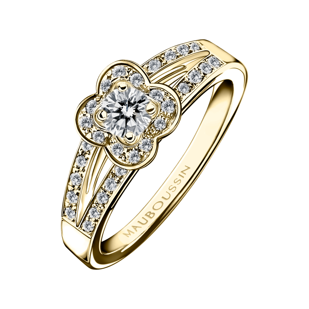 Exceptionnel Bague Chance of Love n°2, or jaune et diamants - Mauboussin  PD17