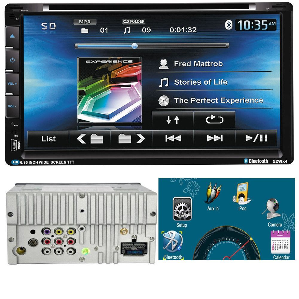 Auto 6 95 In 6901 Radio Car Video Player Dvd Touch Screen Bluetooth