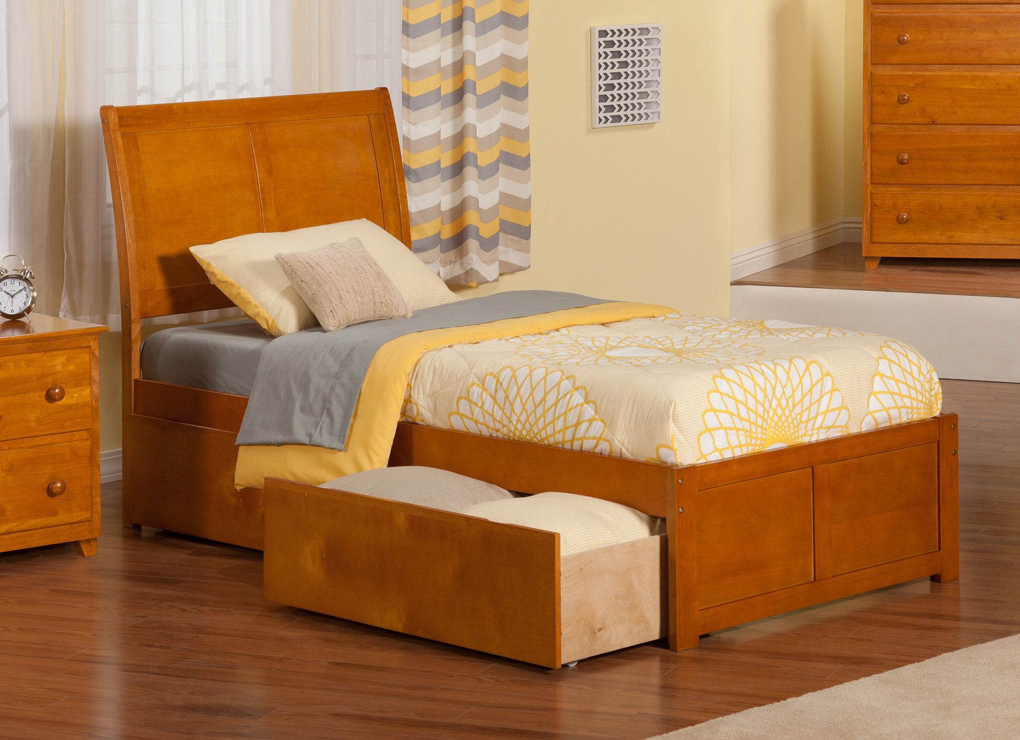 Ahoghill Extra Long Twin Sleigh Bed with Storage