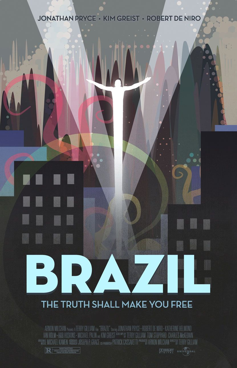 Terry Gilliam Brazil Affiches De Films Minimalistes Posters