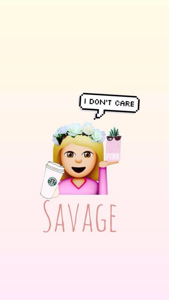 savege Savage wallpapers, Emoji wallpaper, Cute