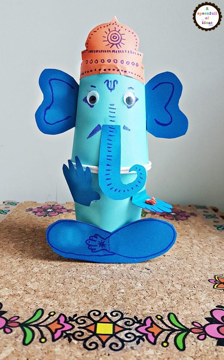 Ganesha 5 Aspoonfullofideas Crafts Paper Cup Crafts Fun Arts