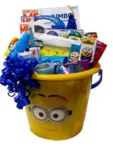 Despicable Me Minions Easter Basket Gift Pail Of Minion Activities Candy Minion Easter Basket Kids Gift Baskets Easter Baskets