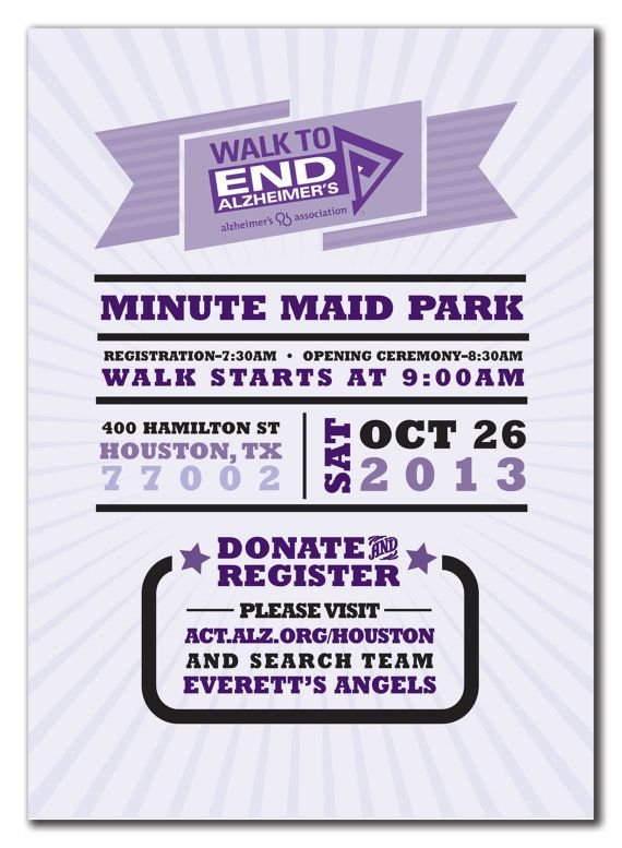 Modern Event Invitation for Alzheimeru0027s by lauraleidesign on Etsy - fundraiser invitation templates