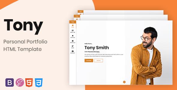 Tony Bootstrap 4 Personal Portfolio Stylelib Personal Portfolio Portfolio Portfolio Templates