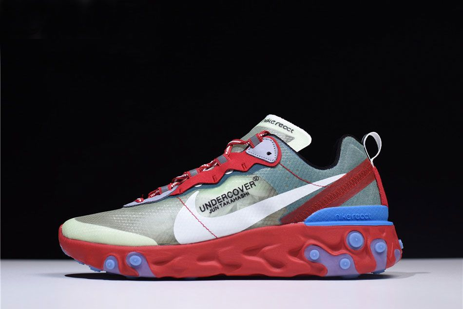 54ff88fd16 2020 Big Deals Undercover X Nike React Element 87 Red/Light Green/Sail  Men's Size, Price: $94.27